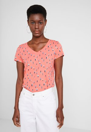 COLOR TEE - Print T-shirt - coral