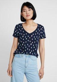 Esprit - COLOR TEE - T-shirt imprimé - navy - 0