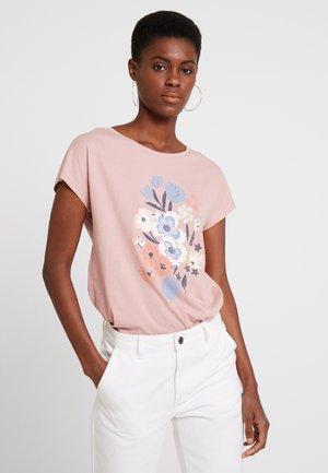 FLOWER TEE - Triko spotiskem - old pink
