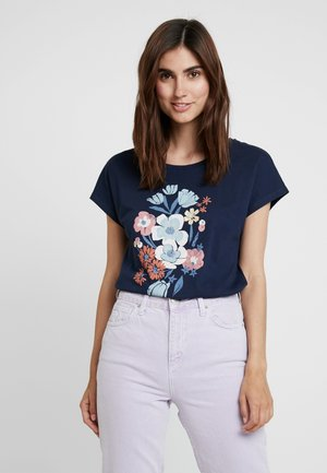 FLOWER TEE - T-Shirt print - navy