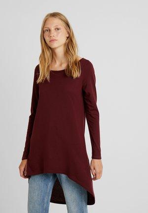 FLOW - T-shirt à manches longues - garnet red