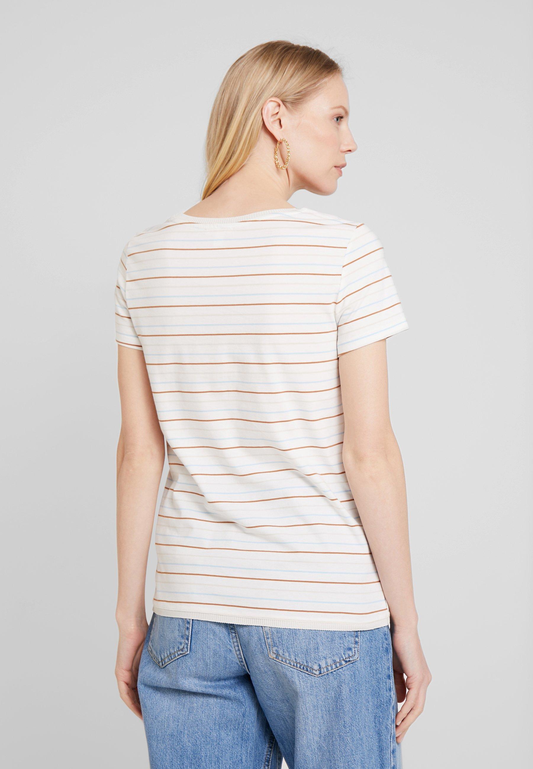 Esprit EmbroT Off White shirt Imprimé uOTPXkZi