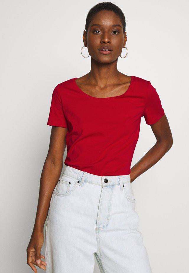 CORE  - Basic T-shirt - dark red