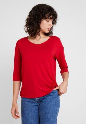 Långärmad tröja - dark red