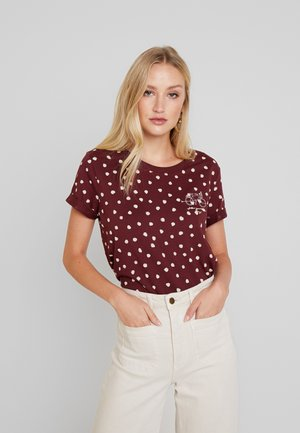 CORE - T-shirt med print - garnet red