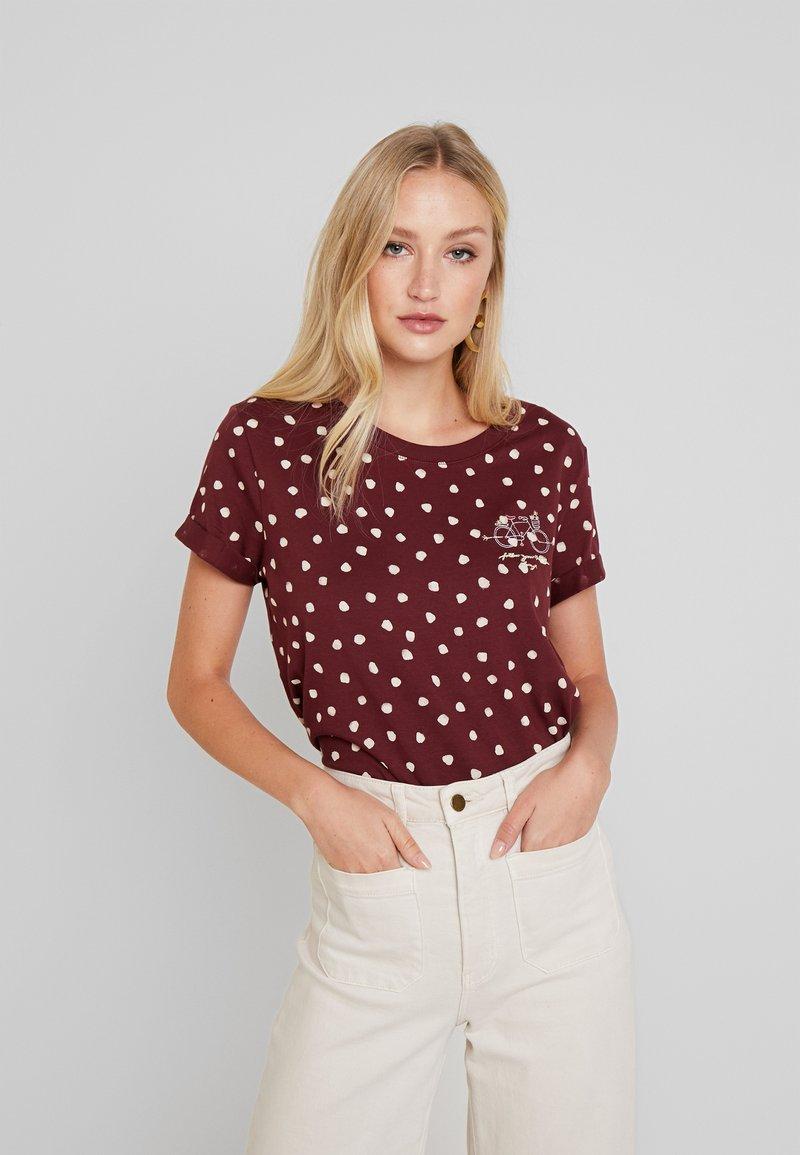 Esprit - CORE - T-shirt z nadrukiem - garnet red