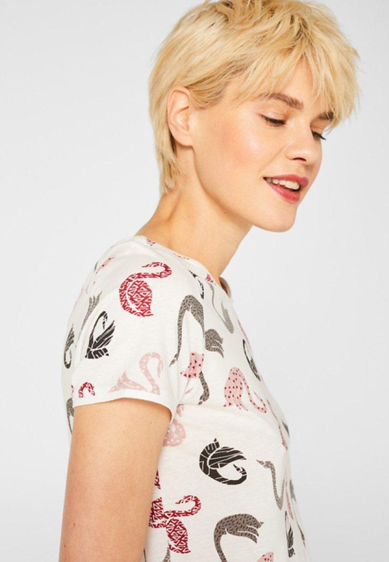 Esprit MIT ALLOVER-PRINT - T-shirt impriméoff white