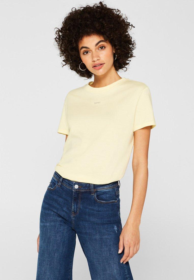 Esprit - Basic T-shirt - pastel yellow
