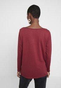 Esprit - PRINT - T-shirt à manches longues - garnet red - 2