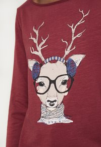 Esprit - PRINT - T-shirt à manches longues - garnet red - 5