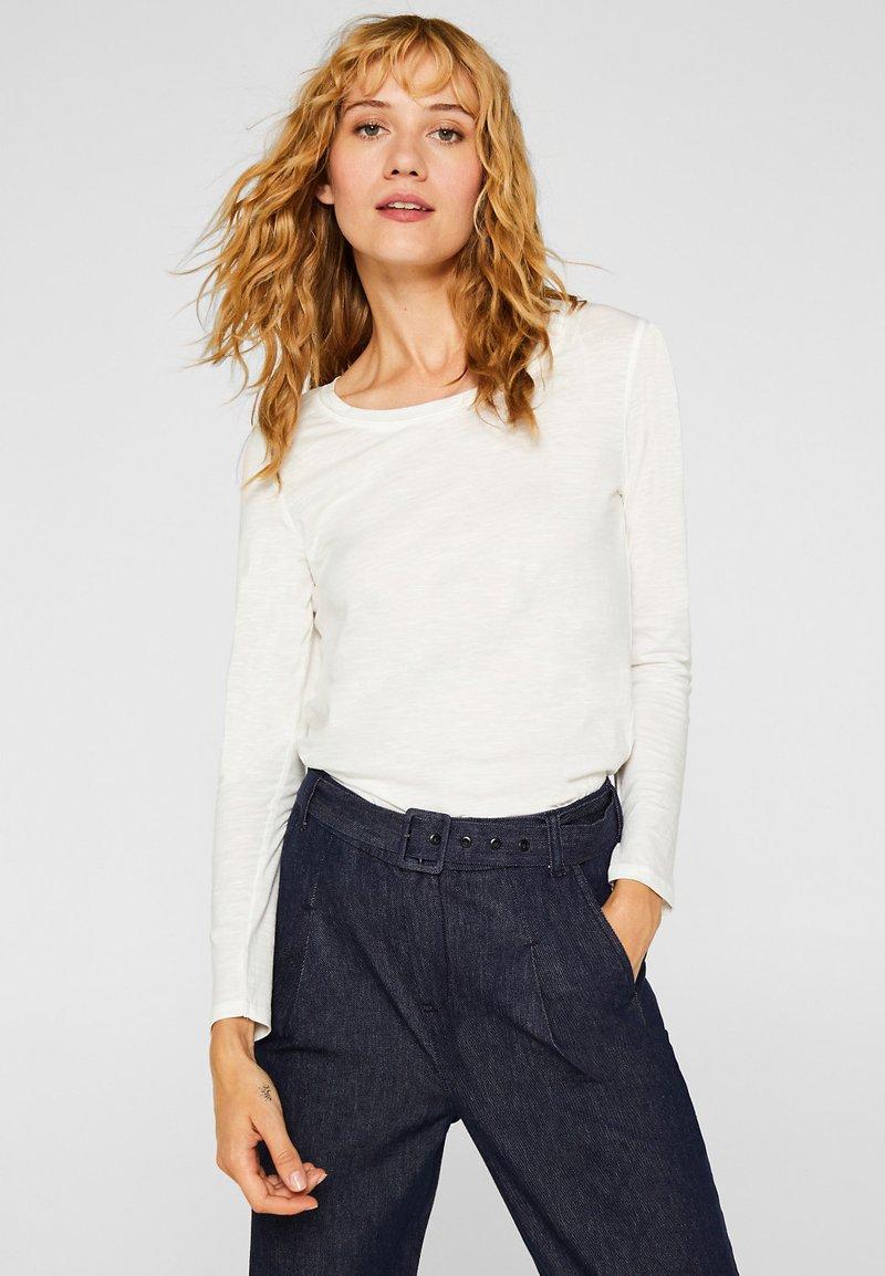 Esprit - MIT SLUB-STRUKTUR - Long sleeved top - off white