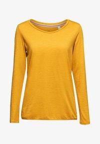 Esprit - MIT SLUB-STRUKTUR - Long sleeved top - honey yellow - 5