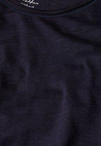 Esprit - MIT SLUB-STRUKTUR - Long sleeved top - navy - 3