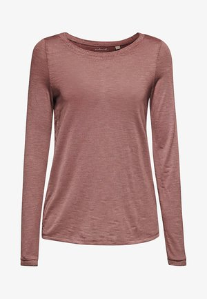 Long sleeved top - dark mauve