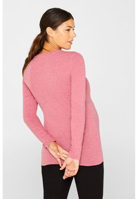 Esprit - MIT FRONTFALTE - Longsleeve - mottled pink - 2