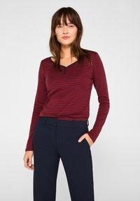 Esprit - T-shirt à manches longues - garnet red - 0