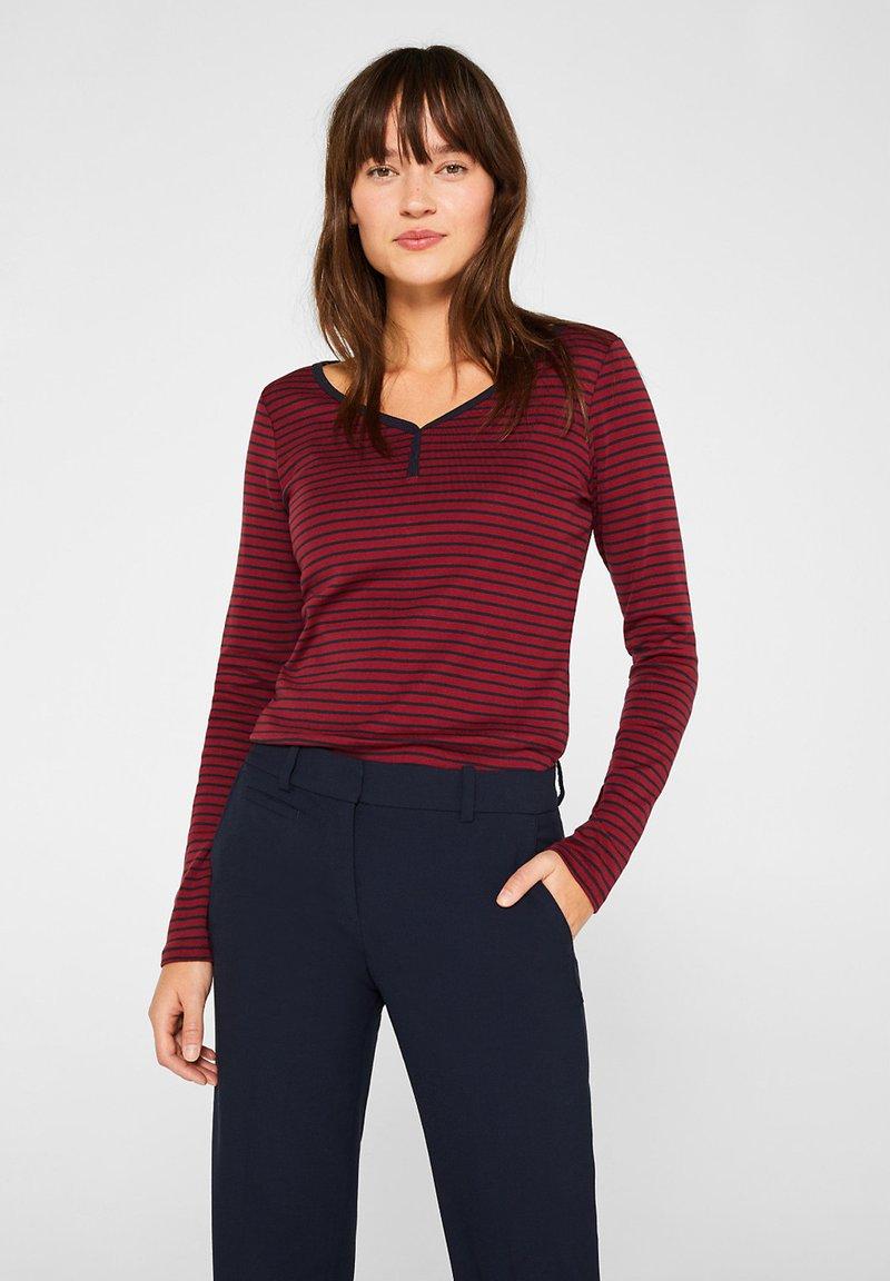 Esprit - T-shirt à manches longues - garnet red