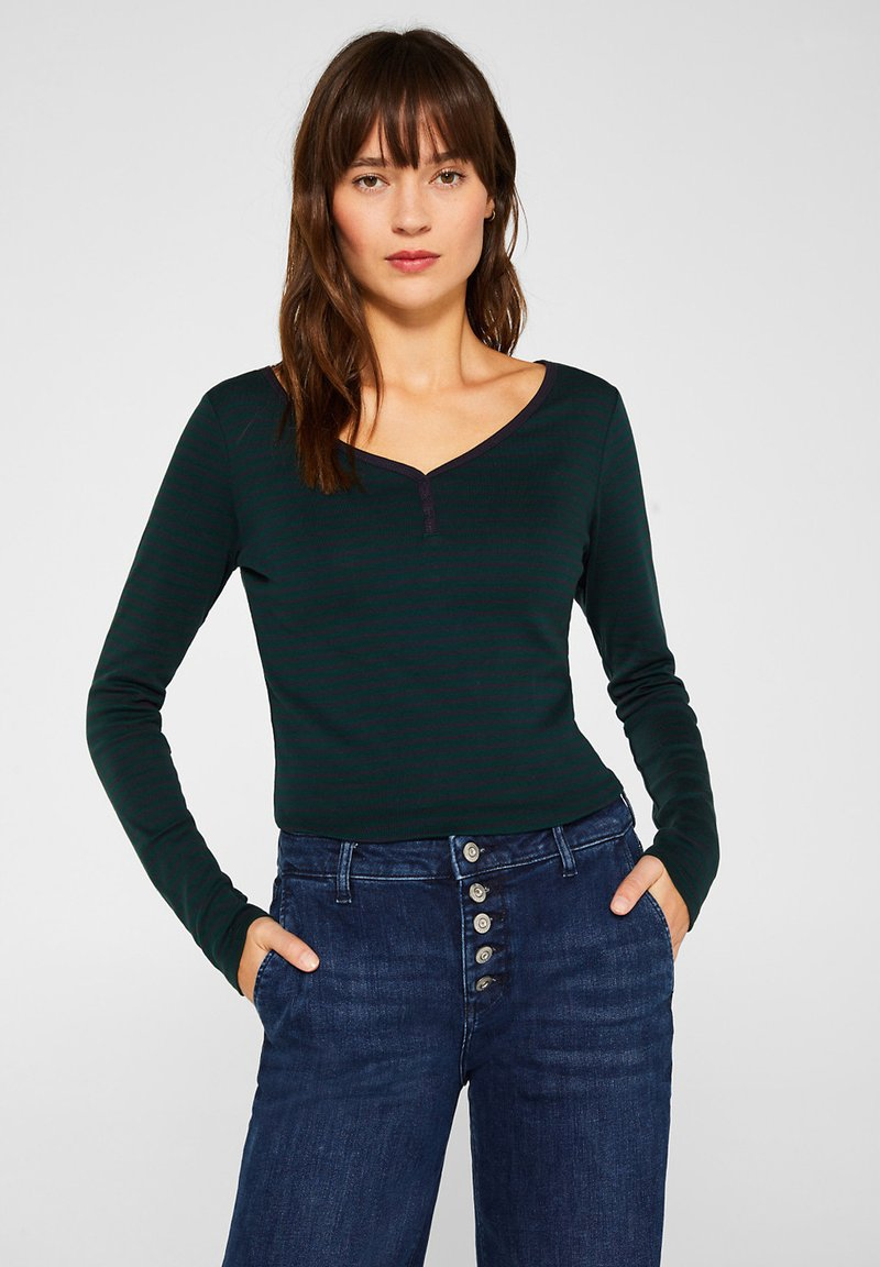 Esprit - Long sleeved top - dark teal green