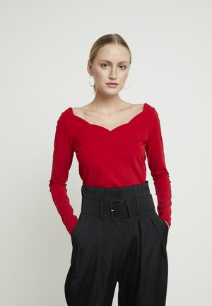 Top sdlouhým rukávem - dark red