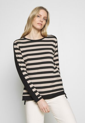 COLOURBLOCK TEE - Maglietta a manica lunga - black