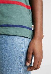 Esprit - CORE OCS AOP T - Print T-shirt - khaki green - 4