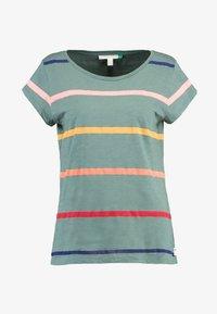 Esprit - CORE OCS AOP T - Print T-shirt - khaki green - 3