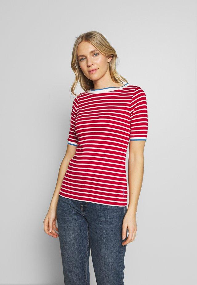 STRIPE TEE - T-shirt con stampa - dark red