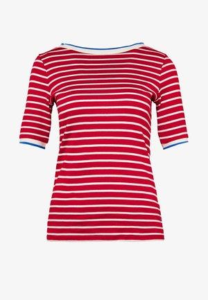 STRIPE TEE - T-Shirt print - dark red