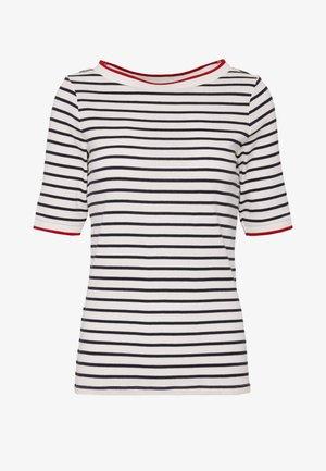 STRIPE TEE - T-shirt z nadrukiem - navy