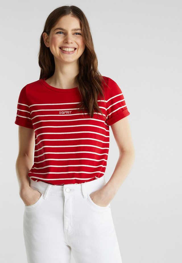 STRIPE - T-shirts print - dark red