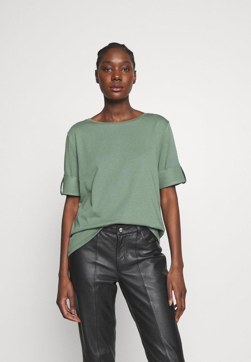 Esprit - TEXTURE - T-shirts med print - khaki green