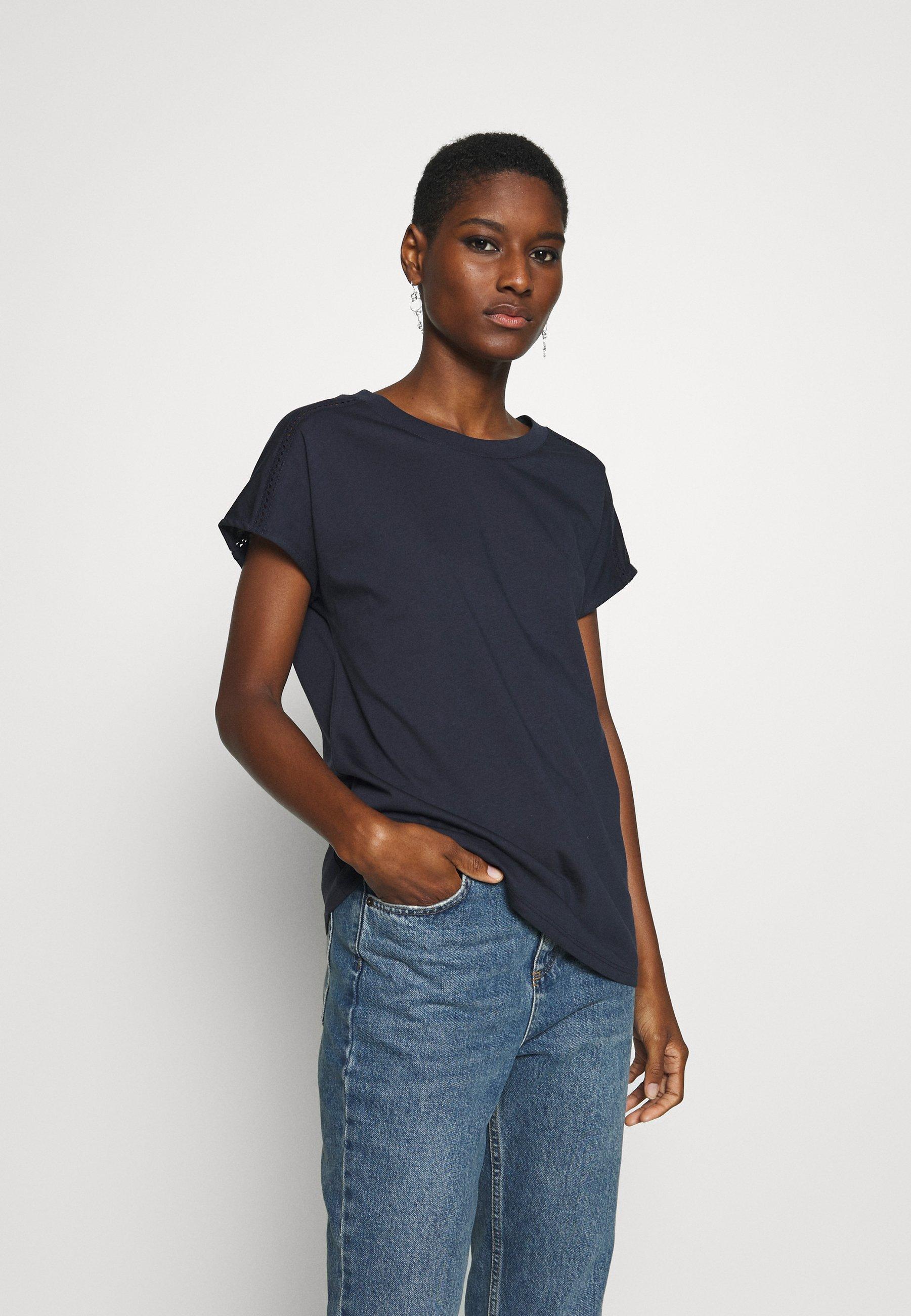 Esprit BANDANASCAF - T-shirt z nadrukiem - navy