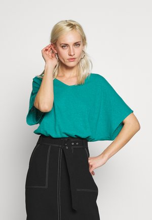 T-shirt basic - teal green