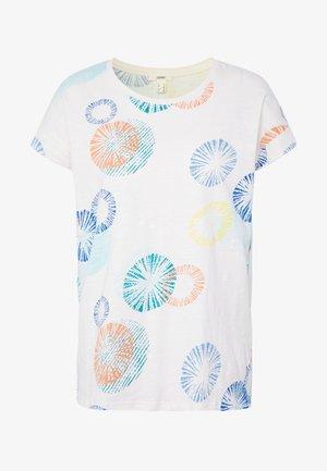 MLA-030EE1K338      CORE OCS FLW AW - Camiseta estampada - off white