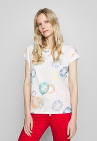 Esprit - MLA-030EE1K338      CORE OCS FLW AW - T-shirts med print - off white - 0