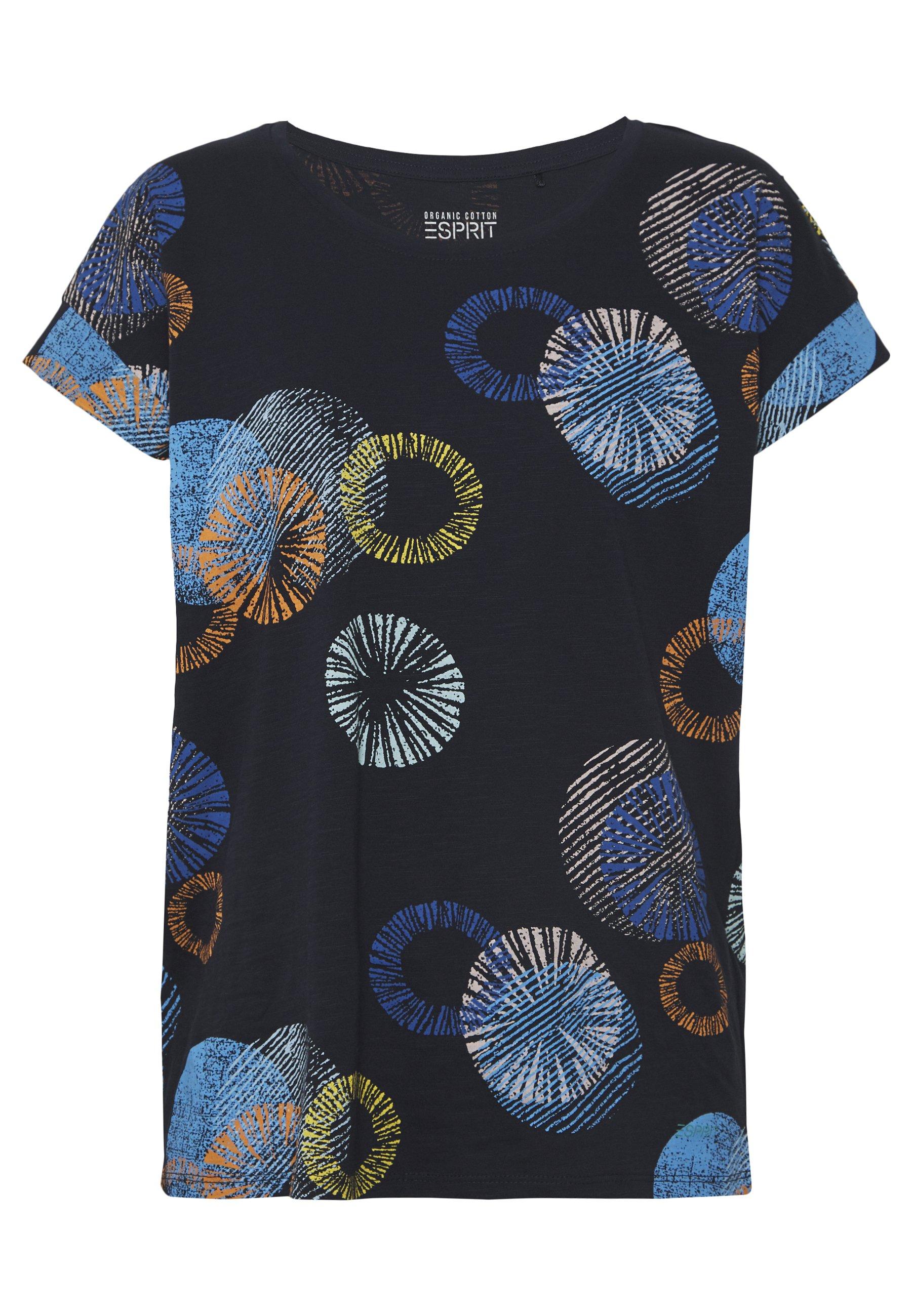 Esprit MLA-030EE1K338   CORE OCS FLW AW - T-shirt z nadrukiem - navy