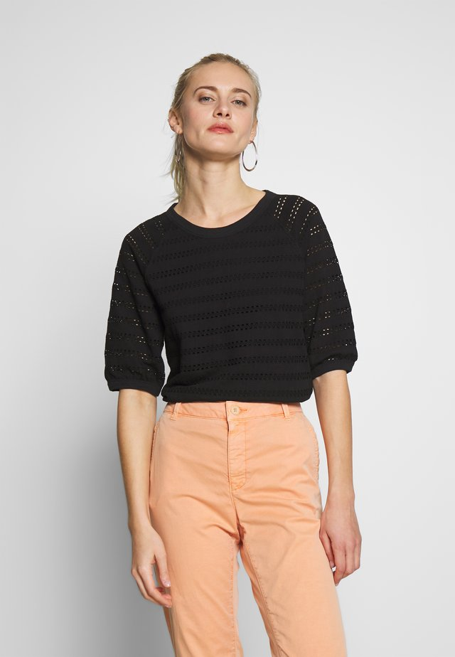 LACE TEE - T-shirt con stampa - black