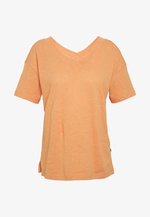 FLW LINEN T - T-shirts med print - rust orange