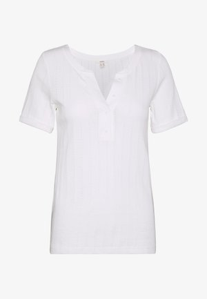 MLA-030EE1K308      POINTELLE OCS T - T-shirt z nadrukiem - off white