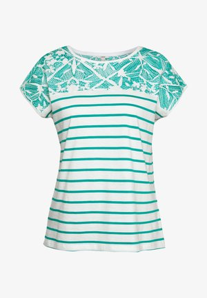 STRIPED TEE - T-shirts med print - teal green