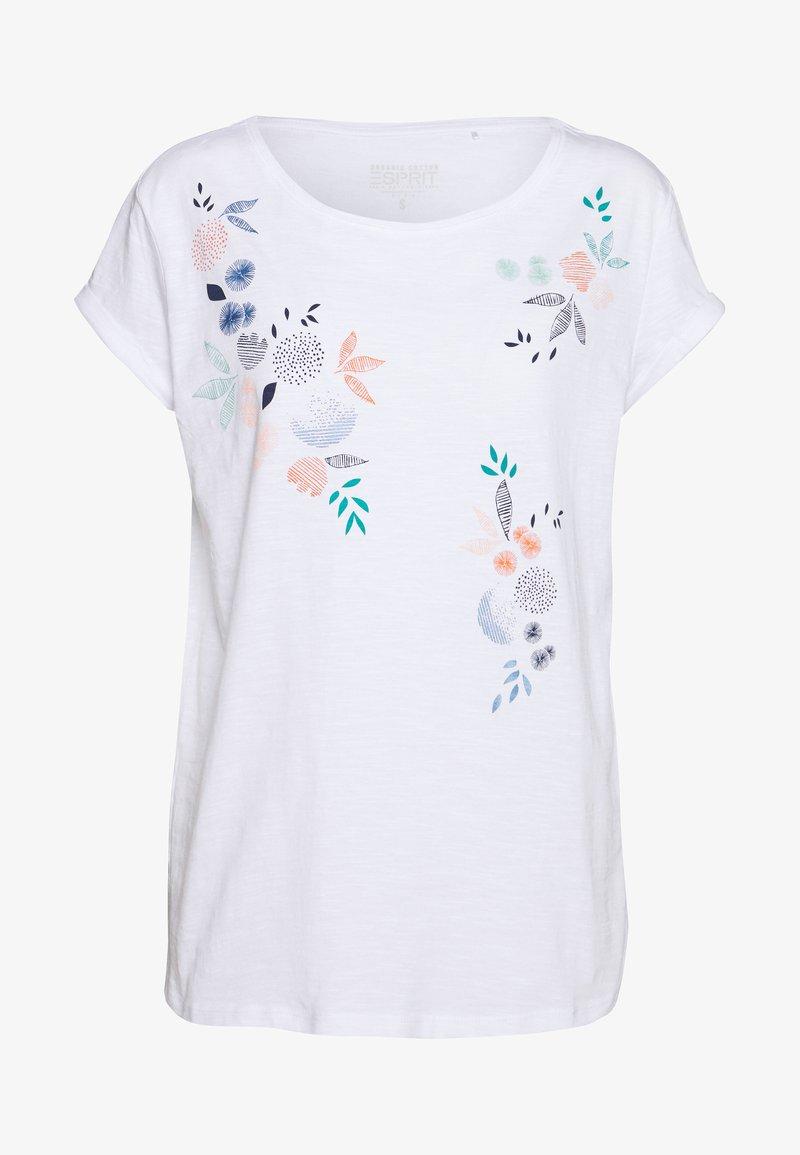 Esprit - CORE - T-shirt con stampa - white