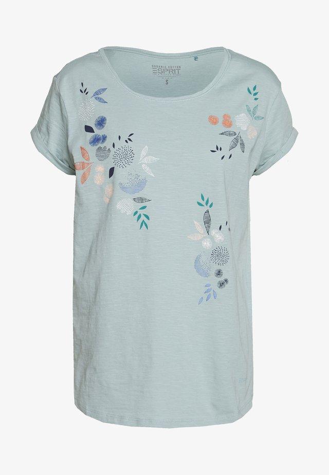 CORE - T-shirt con stampa - light aqua green