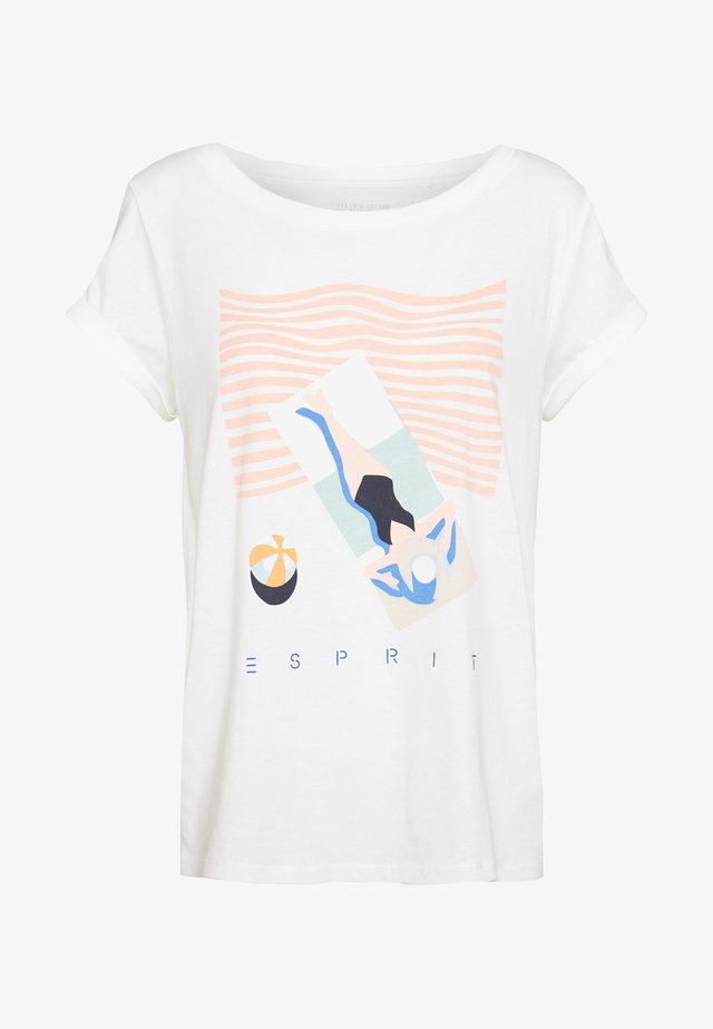 CORE - T-shirt z nadrukiem - off white