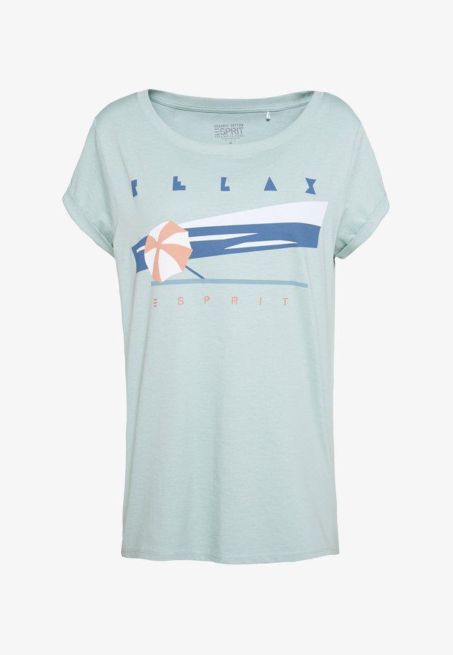 CORE - Print T-shirt - light aqua green