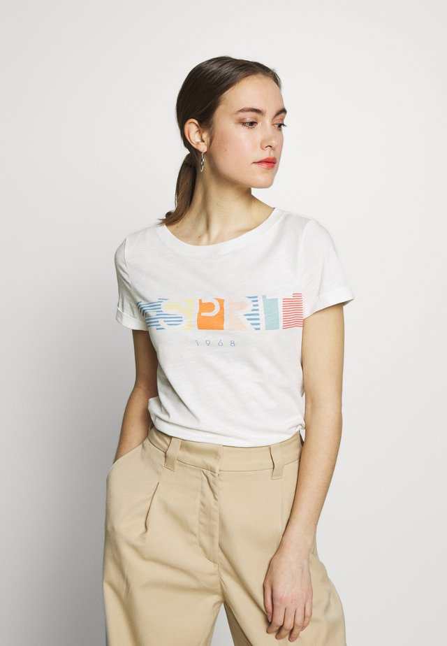 CORE LOGO - Print T-shirt - off white