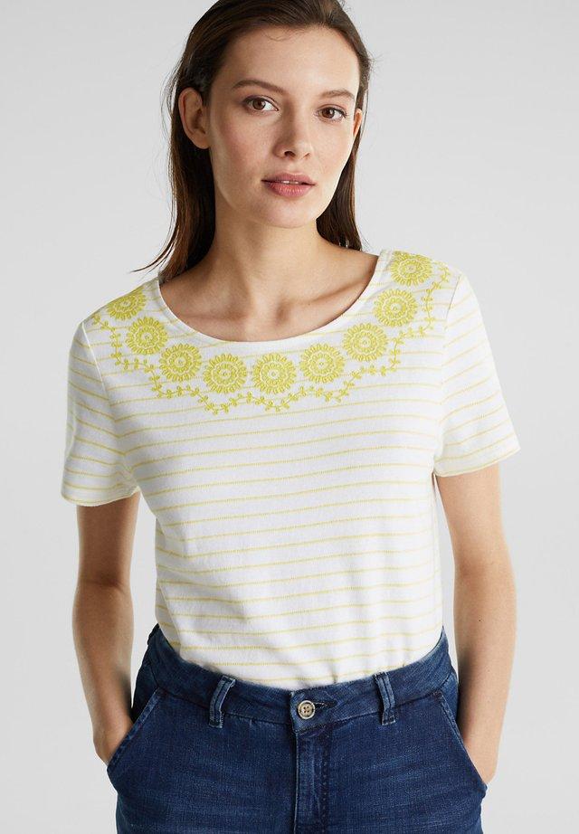 T-shirt med print - bright yellow