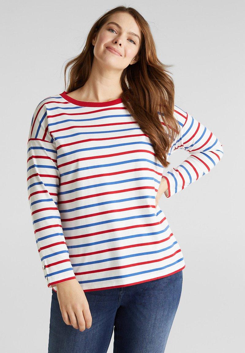 Esprit - T-shirt à manches longues - off-white