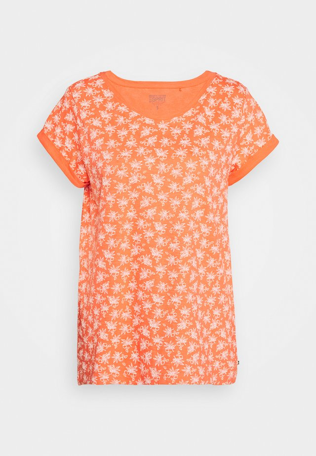 CORE - Camiseta estampada - coral