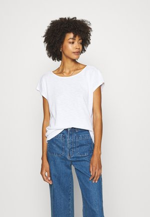 KNOTTED TEE - T-shirts med print - white