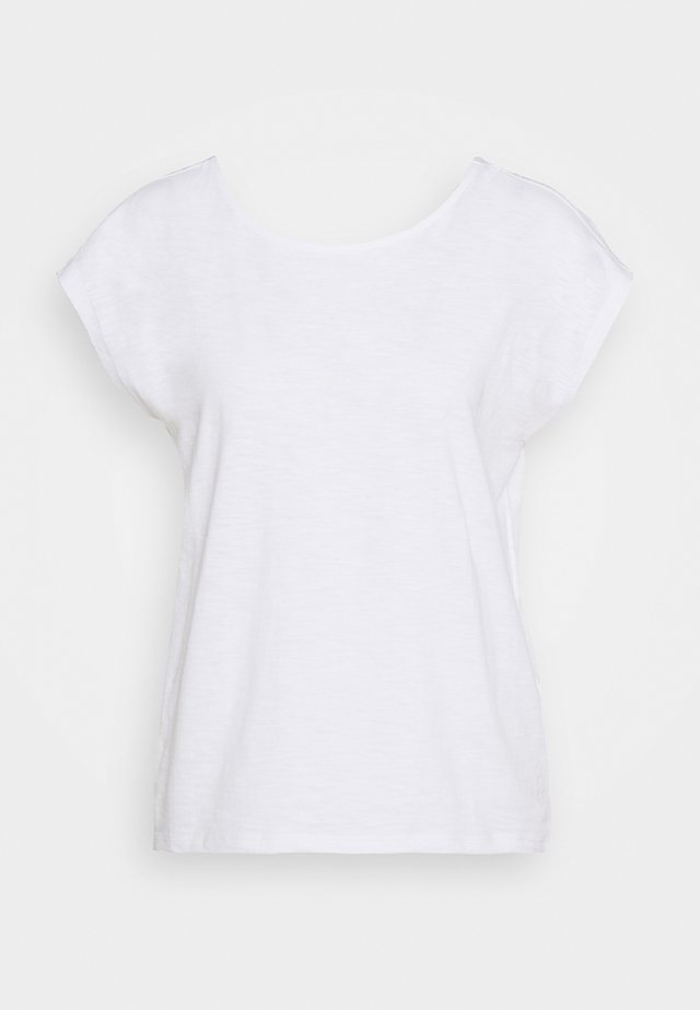 KNOTTED TEE - Print T-shirt - white